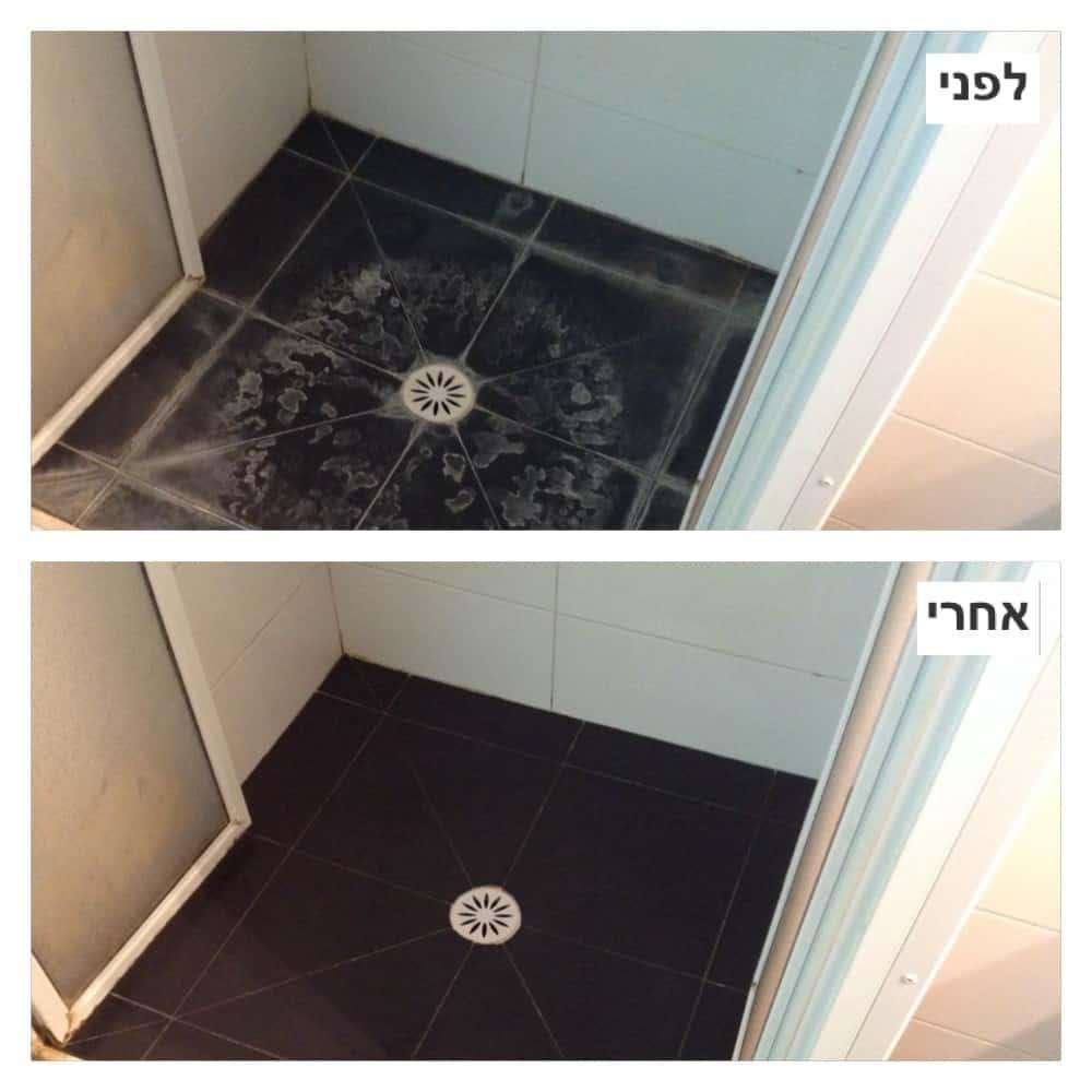 ניקוי אבנית לפני ואחרי