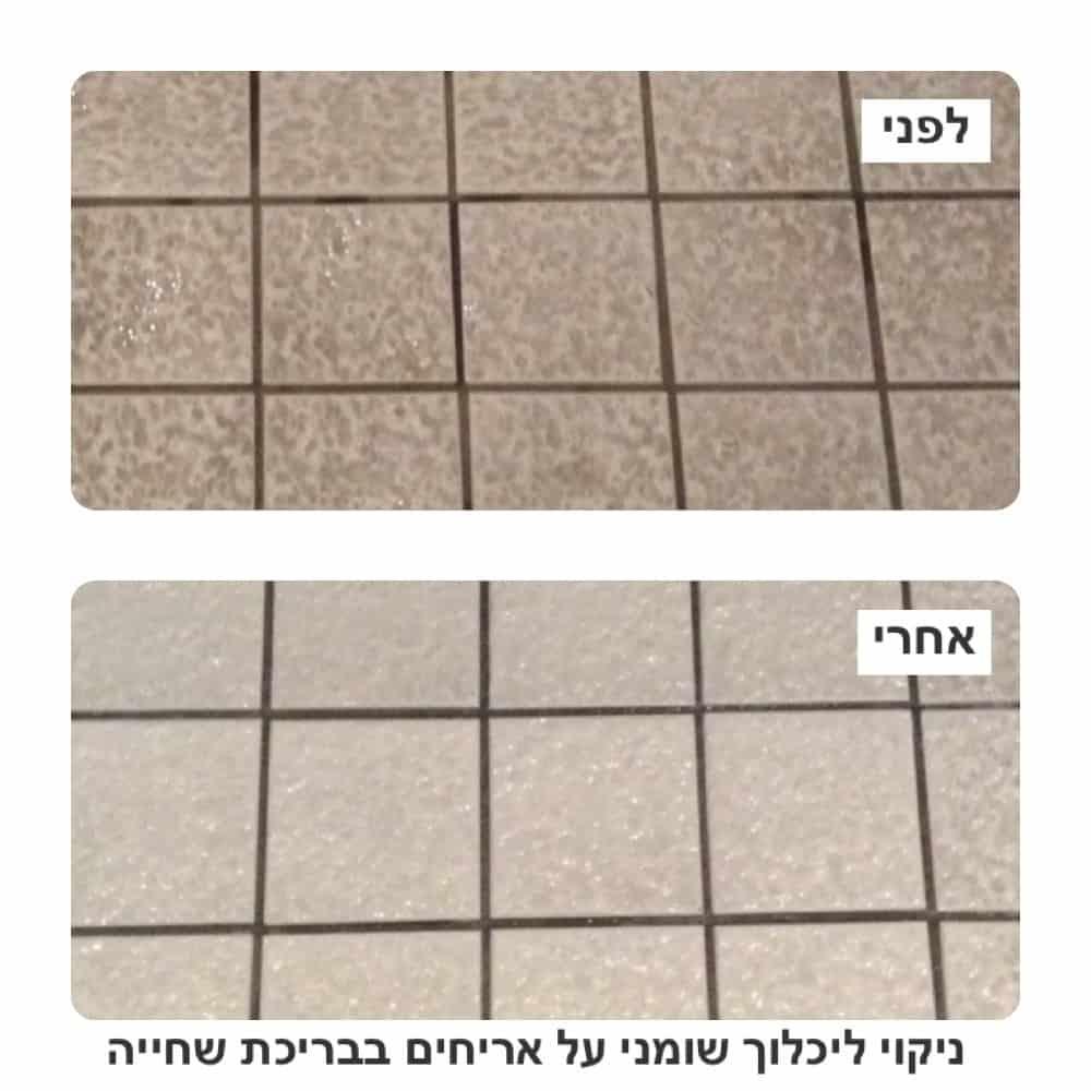 ניקוי קרמיקה לפני ואחרי